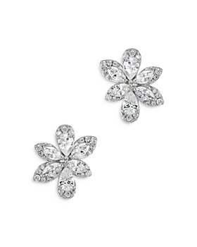 Bloomingdale's - Marquis, Pear & Round Cut Diamond Flower Stud Earrings in 14K White Gold, 1.0 ct. t.w. - 100% Exclusive