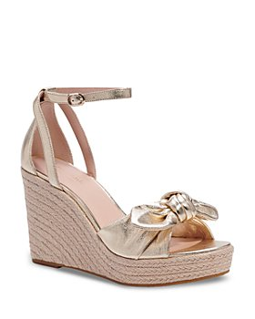 kate spade new york - Women's Tianna Almond Toe Knotted Bow Espadrille Wedge Sandals