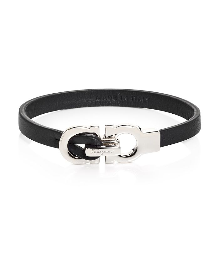Salvatore Ferragamo - Double Gancini Leather Bracelet