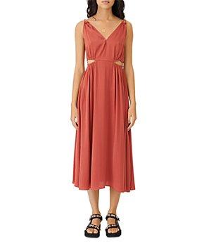 Maje - Rune Cutout Midi Dress
