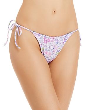 Sunny Meadow Reversible Side Tie Bikini Bottom