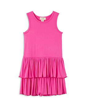 Peek Kids - Girls' Ruffle Tiered Knit Dress - Little Kid, Big Kid