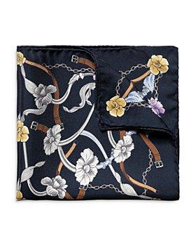 Eton - Flowers & Belts Silk Pocket Square