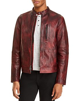 John Varvatos Star USA - Reyes Sheepskin Slim Fit Racer Jacket