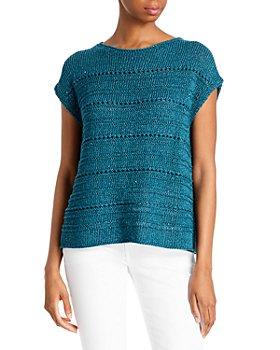 Lafayette 148 New York - Open Weave Short Sleeve Sweater