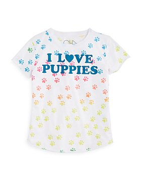 CHASER - Girls' I LOVE PUPPIES Graphic Tee - Little Kid, Big Kid
