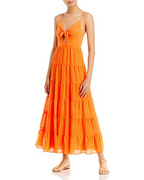 Alice and Olivia - Minka Tie Front Maxi Dress