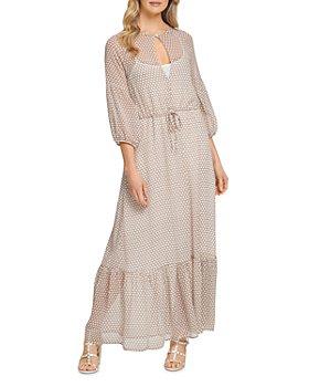 DKNY - Printed Peasant Maxi Dress
