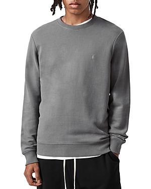Allsaints Raven Cotton Logo Embroidered Regular Fit Crewneck Sweatshirt