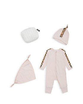 Burberry - Unisex 4-Pc. Set Claude Check Coverall Set - Baby