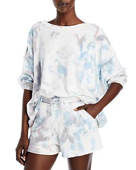 Free People - Kelly Washed Tie Dyed Sweatshirt & Shorts