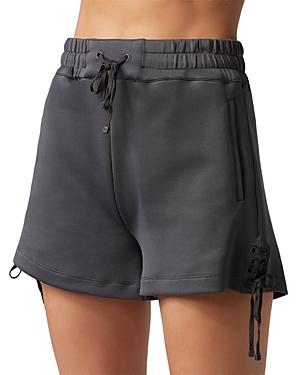 Blanc Noir Lace Up Shorts