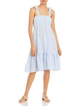 AQUA - Cotton Gingham Midi Dress - 100% Exclusive