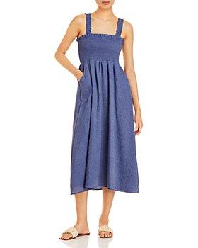 AQUA - Smocked Midi Dress - 100% Exclusive