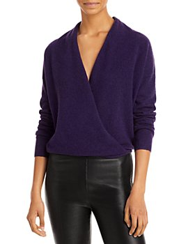 C by Bloomingdale's - Crossover Cashmere Sweater - 100% Exclusive