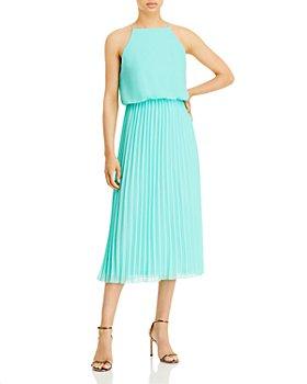 Sam Edelman - Blouson Pleated Skirt Midi Dress - 100% Exclusive