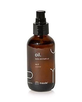 maude - Oil Bath & Body Oil - No. 0 Unscented 4 oz.