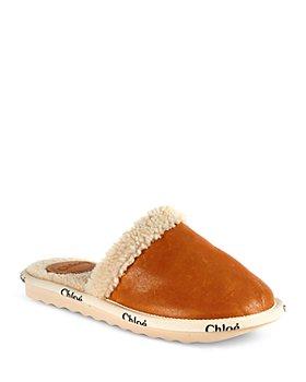 Chloé - Women's Woody Shearling Mule Slippers