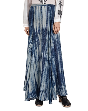 Latika Tie-Dye Silk Midi Skirt