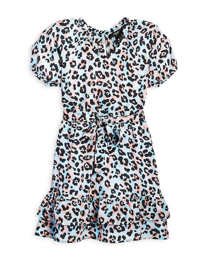 AQUA - Girls' Leopard Print Dress, Big Kid - 100% Exclusive
