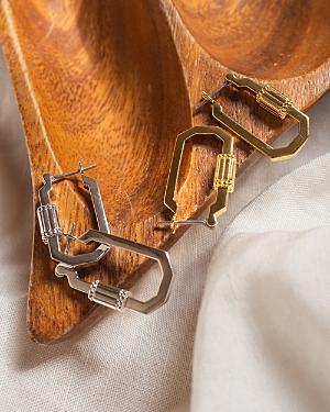 Carabiner Hoop Earrings