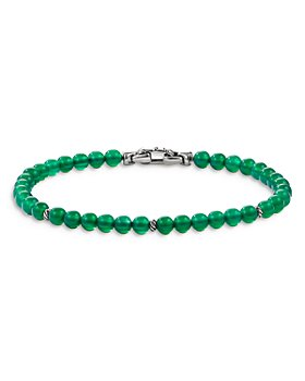 David Yurman - Sterling Silver Spiritual Beads Bracelet with Green Onyx