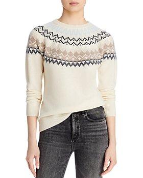AQUA - Fair Isle Sweater - 100% Exclusive