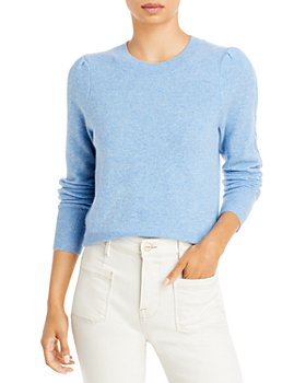AQUA - Cable Puff Sleeve Cashmere Sweater - 100% Exclusive