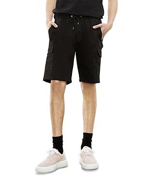 The Kooples Black Regular Fit Cargo Shorts