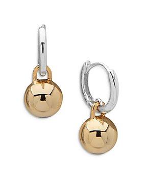 Ralph Lauren - Two-Tone Dangle Hoop Earrings