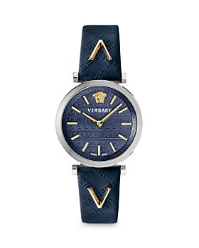 Versace - V-Twist Blue Leather Strap Watch, 36mm (54% off) - Comparable value $1,295