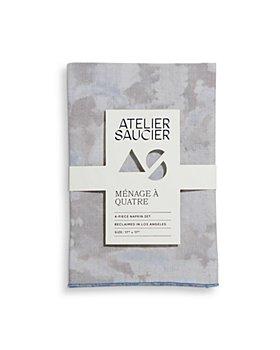 ATELIER SAUCIER - Blue Sky Linen Napkins, Set of 4