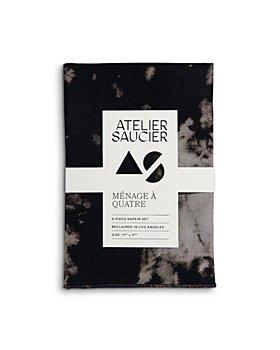 ATELIER SAUCIER - After Dark Linen Napkins, Set of 4