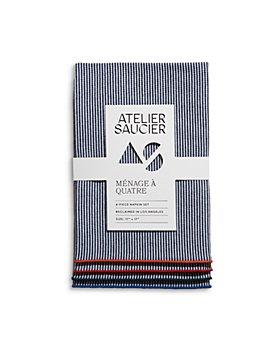 ATELIER SAUCIER - Americana Stripe Napkins, Set of 4