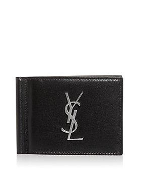 Saint Laurent - Leather Money Clip Bifold Card Case