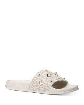 MICHAEL Michael Kors - Women's Gilmore Logo Pool Slide Sandals