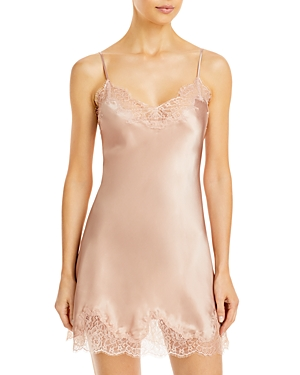 Charlotte Lace Trimmed Silk Chemise