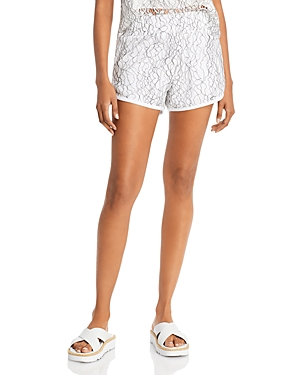 Rose Lace Sweat Shorts