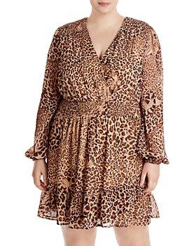 AQUA Curve - Leopard Smocked Dress - 100% Exclusive