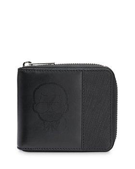 KARL LAGERFELD PARIS - Zip Around Combo Leather Wallet