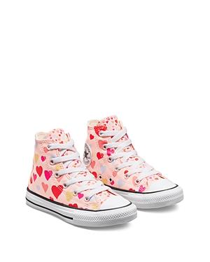 Converse Girls' Heart Print All Star High Top Sneakers - Toddler, Little Kid, Big Kid