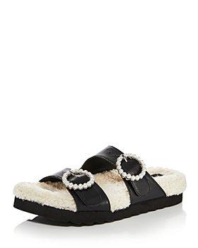 AQUA - Women's Furry Embellished Sandals - 100% Exclusive