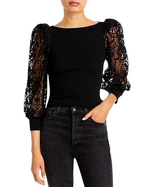 Abella Lace Puff Sleeve Top