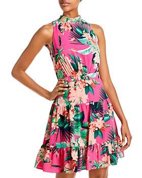 Eliza J - Flounce Hem Mini Dress