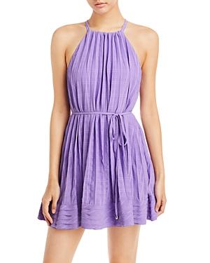 Ramy Brook Bobbi Plaid Halter Mini Dress