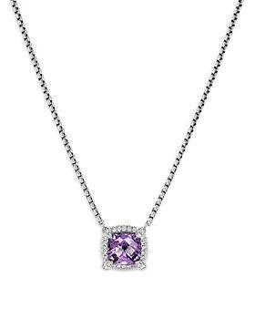 "David Yurman - Sterling Silver Chatelaine Amethyst & Diamond Pendant Neckalce, 18"" - 100% Exclusive"