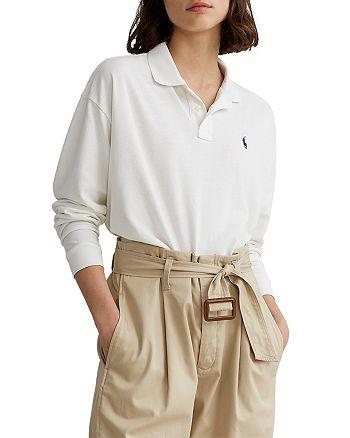 Ralph Lauren - Long Sleeve Cropped Polo Shirt