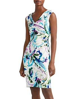 Ralph Lauren - Printed Pleated Sheath Dress