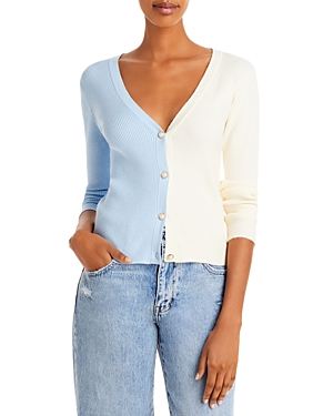 Ribbed Two Tone Cardigan