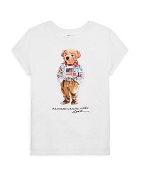 Ralph Lauren - Girls' Cotton Polo Bear Tee - Little Kid, Big Kid